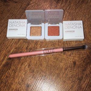 Natasha Denona Eyeshadow Bundle with Brush(New)